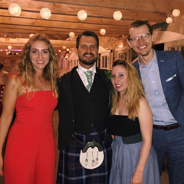 Gene and Chloe, you're a perfect pair! Thanks for letting this College Board crew join in on the ceilidh and boogie on the dance floor all night 🕺🏼So grateful to be part of your special day!