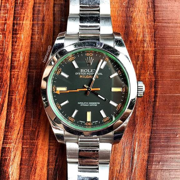 The Rolex Milgauss 11610GV 'glass verte'