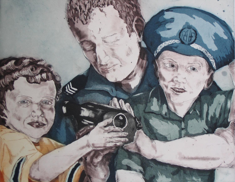 Two little boy's, 40 x 50 cm