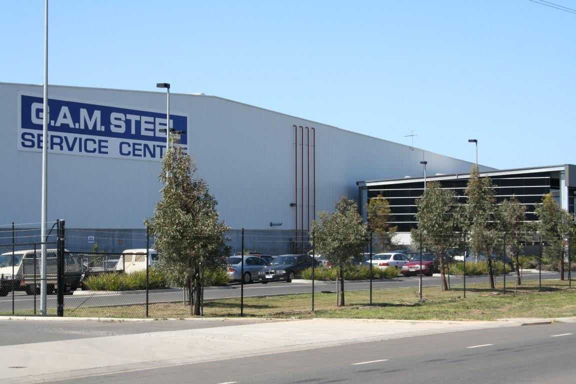 G.A.M. Steel Warehouse  Derrimut, VIC  46,000m2 Client: GAM Steel