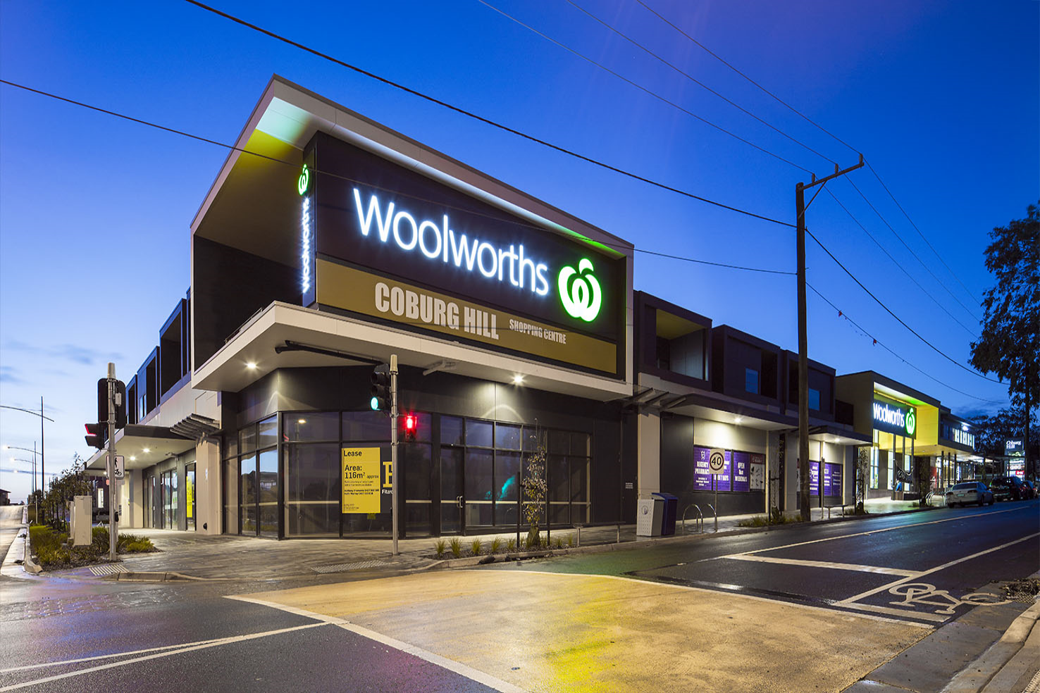 Coburg North Shopping Centre  Coburg North, VIC  Client: Vaughan Constructions