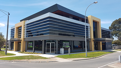 T h e new home of Spencer Group Engineering in Pakenham, while under construction.