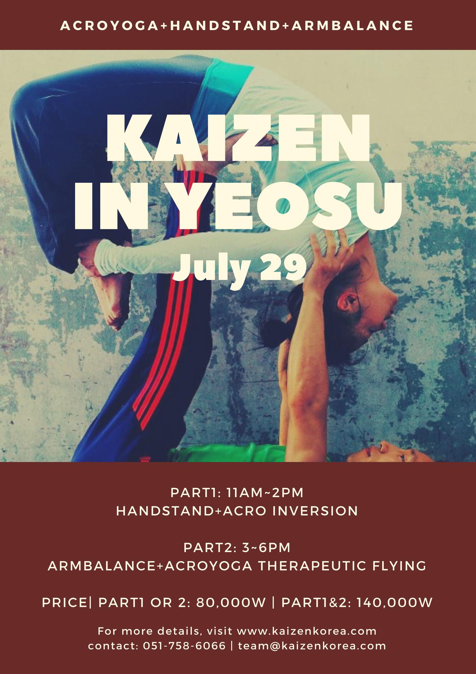 for more info & enrollment contact : team@kaizenkorea.com | 051-758-6066