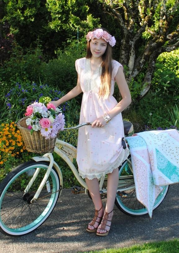 The Bridgetown Dress in Rosemilk.Pattern available August 2014.