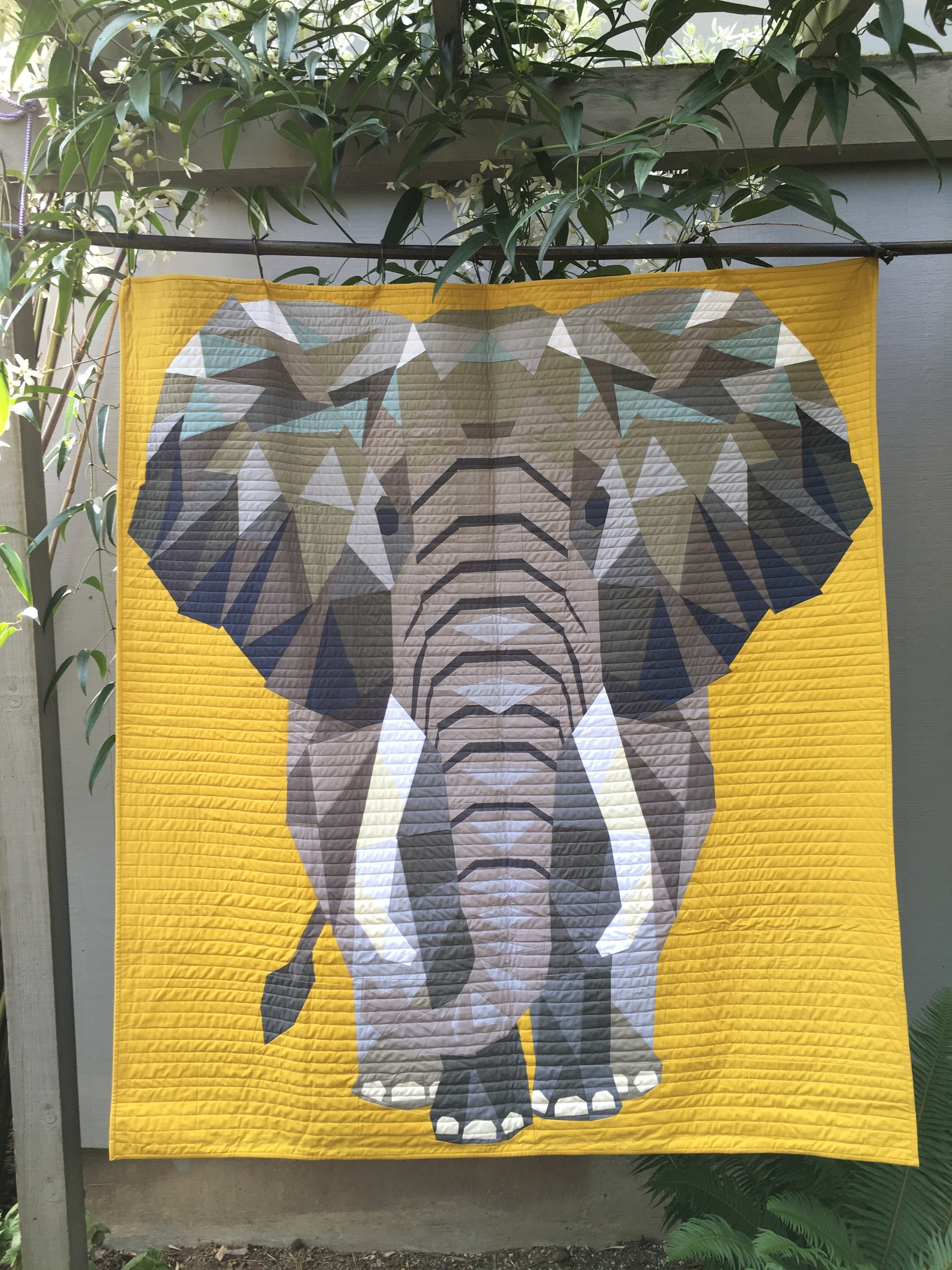The original Elephant Abstractions quilt