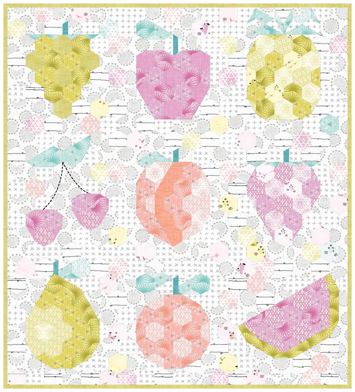 The Fruit Basket EPP pattern