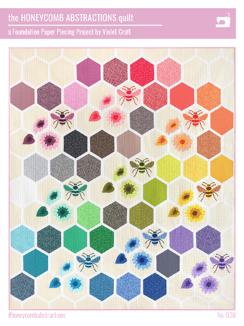 The Barn Own EPP Paper Pattern Make 20 x 20 Quilt Pattern from Violet Craft Owl Quilt Pattern English Paper Piecing Quilt Pattern