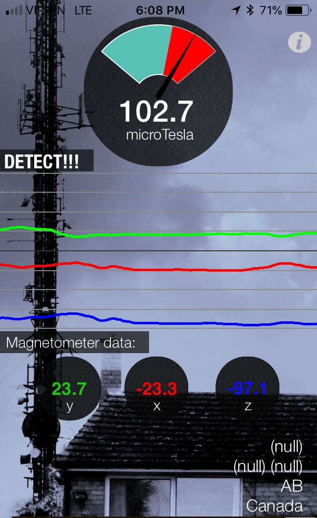 EMF DETECTOR smart phone app