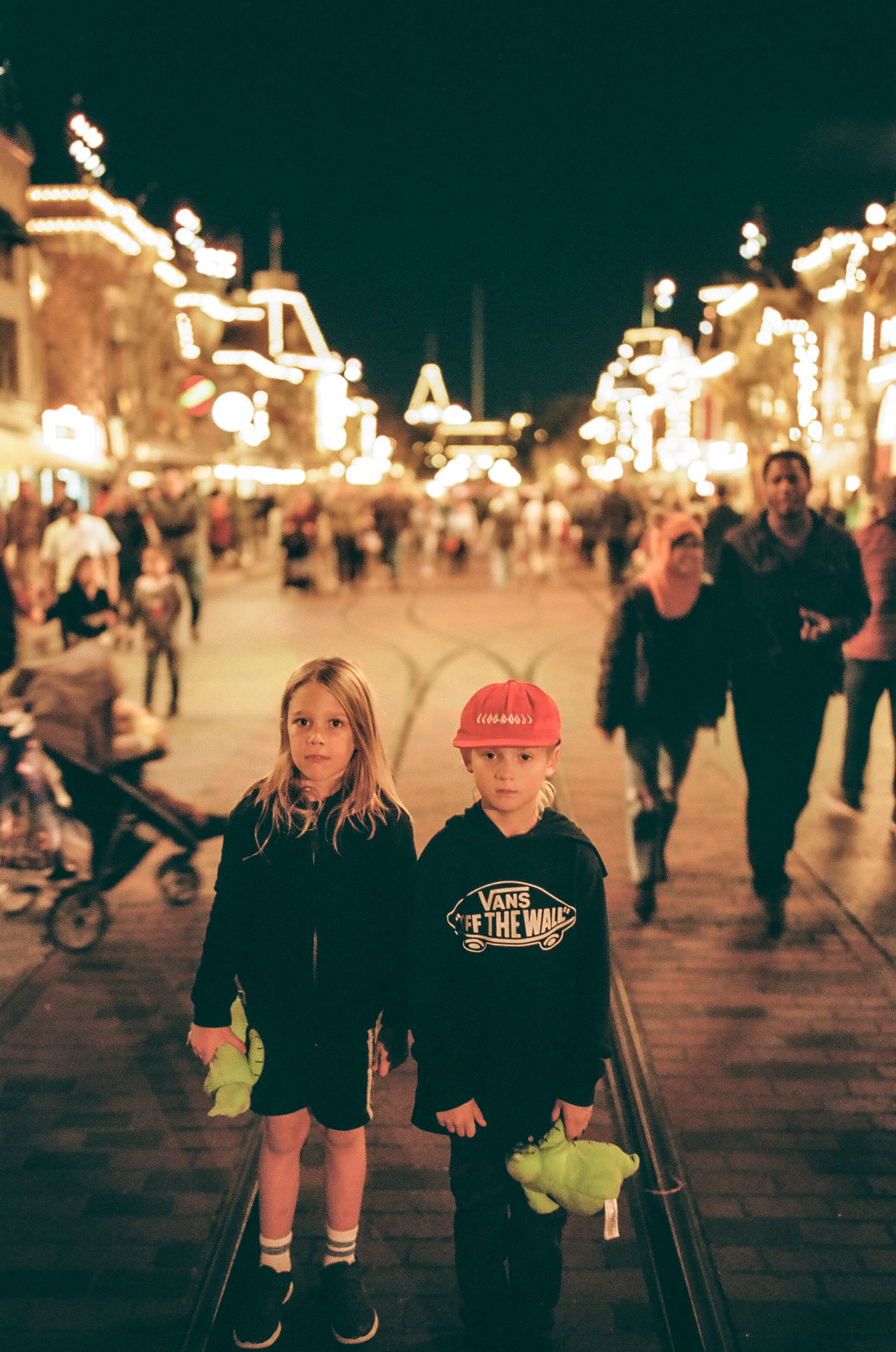 Main Street Disneyland, CA.  On Film.