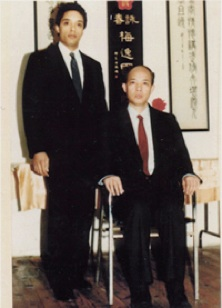 Moy Tung with Moy Yat