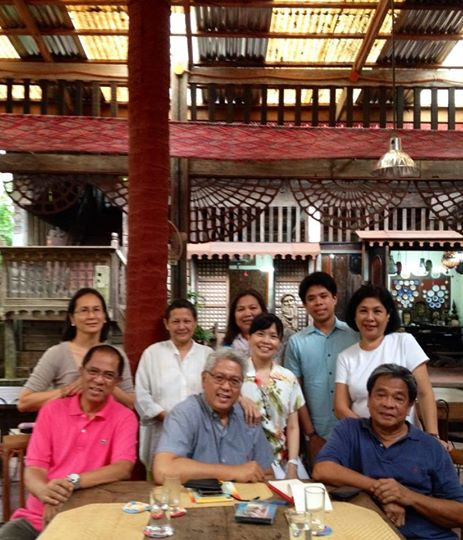 Ryan Cayabyab with wife Emmy and friends in Patis Tito Garden Cafe