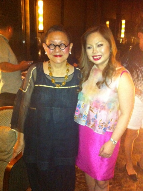 With Yasmine Hidalgo, PR of Sofitel Plaza Manila.