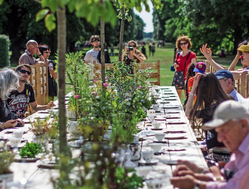 IncrEdible Tea Party installation for the Royal Botanical Gardens, Kew. Summer/Autumn 2013
