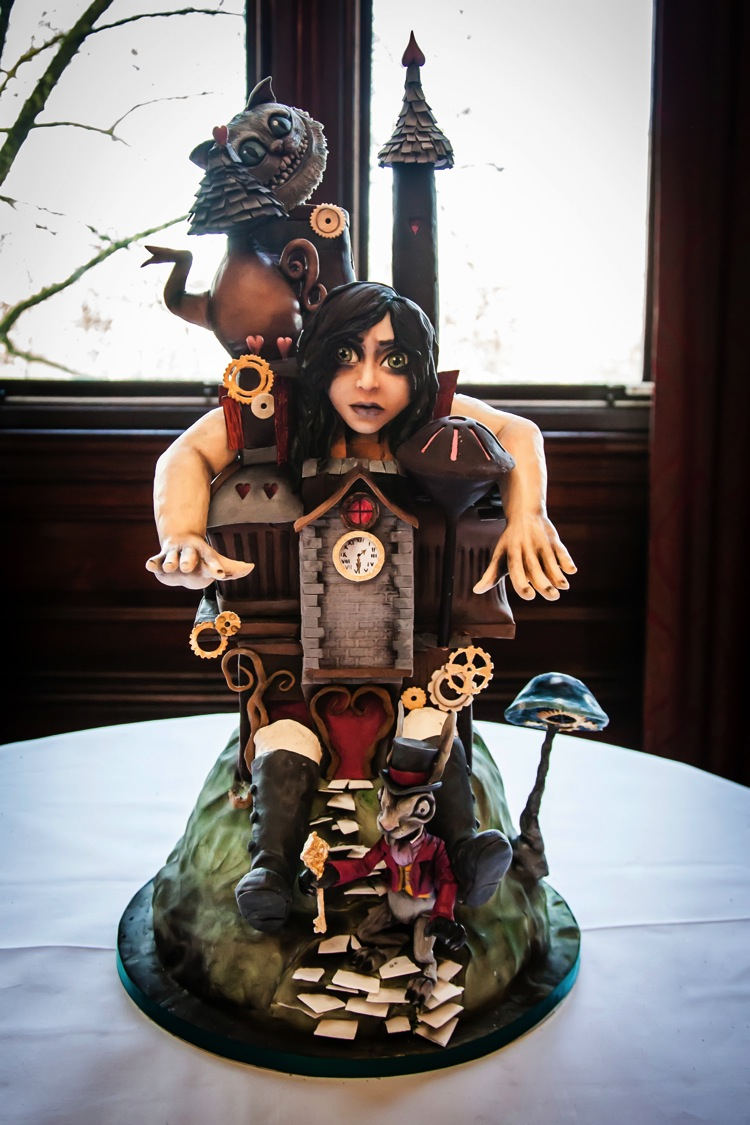 Alice in Wonderland Steampunk Sculpture