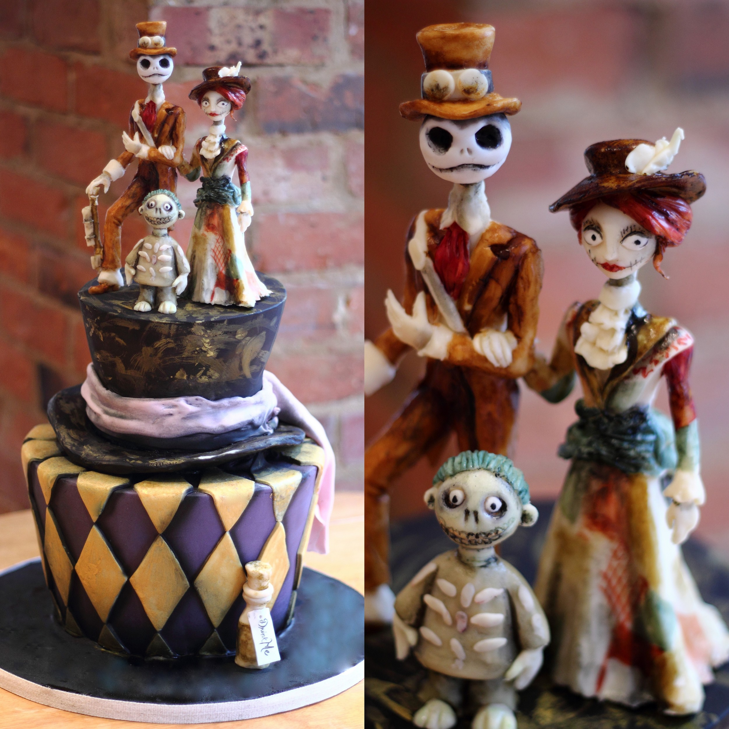 Tim Burton Steampunk Wedding Cake
