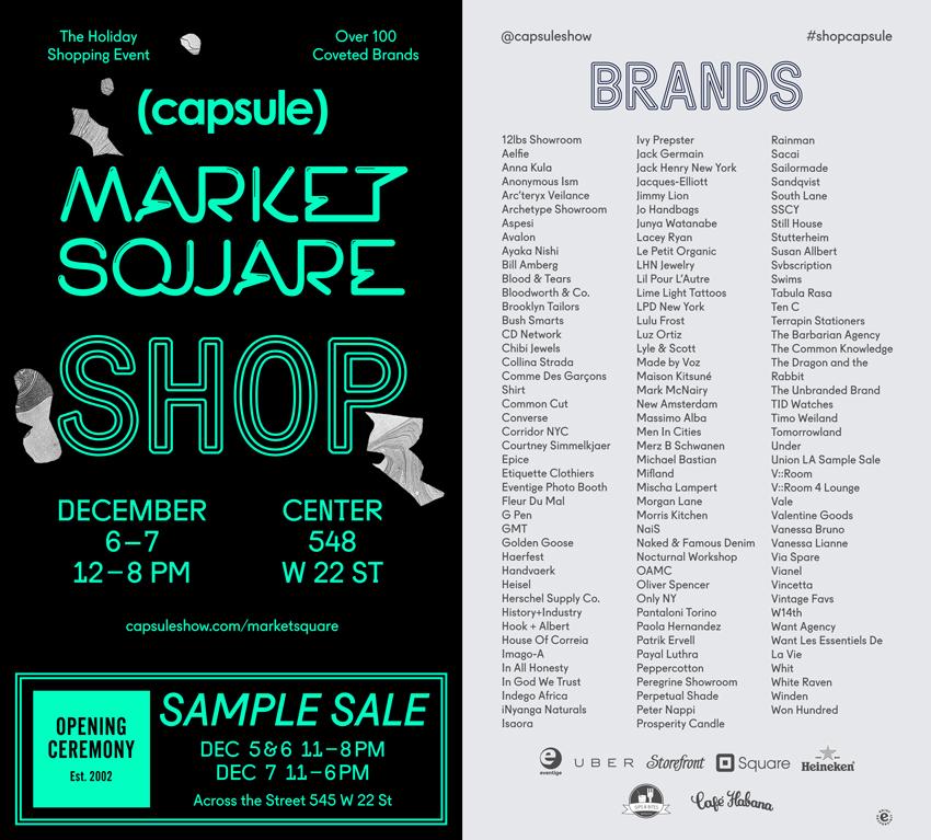 Capsule Market Square Holiday Market