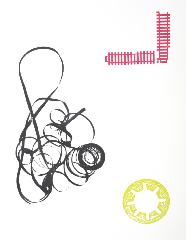 """""""Ink"""" 2015. Letterpress print on paper"""