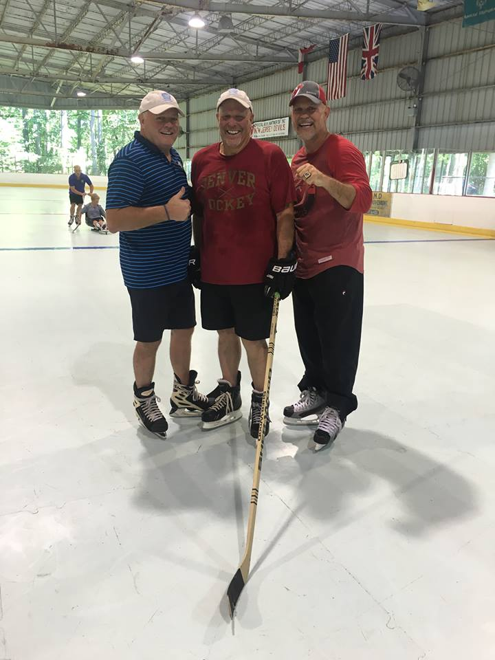 The Can-Ice team; Danny Gare & Mike McGraw with Ken Daneyko - 3 Time Stanley Cup Champion with the New Jersey Devils on the Can-Ice at Old Bridge Ice Arena
