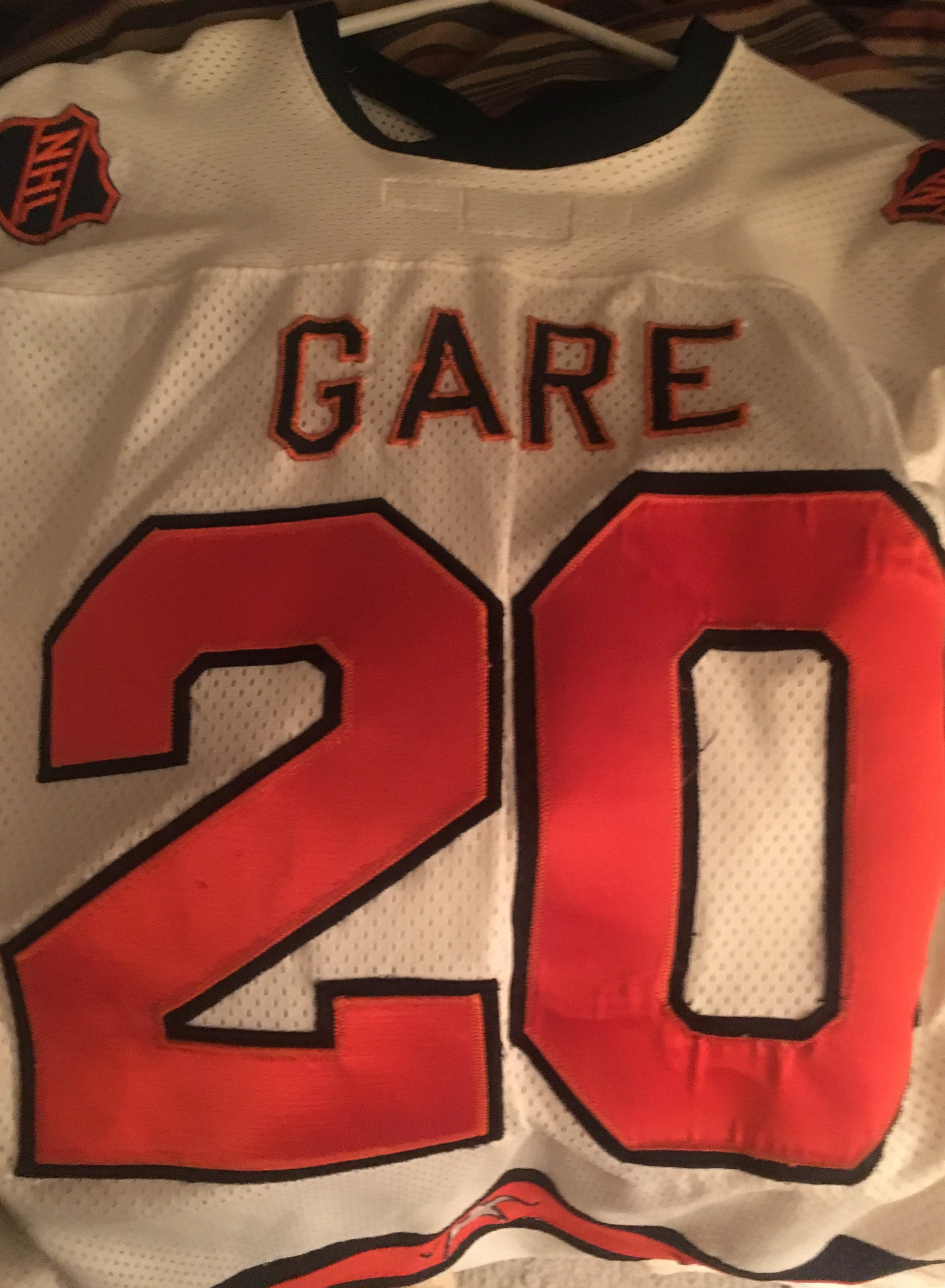 Danny Gare's All Star jersey 1981 NHL All Star Game.