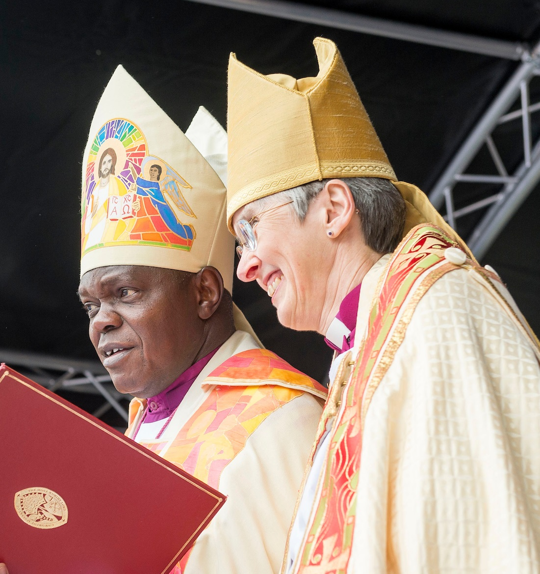 The Archbishop of York, Dr John Sentamu, and the Bishop of Hull, the Rt Rev Alison White, during the service of re-designation