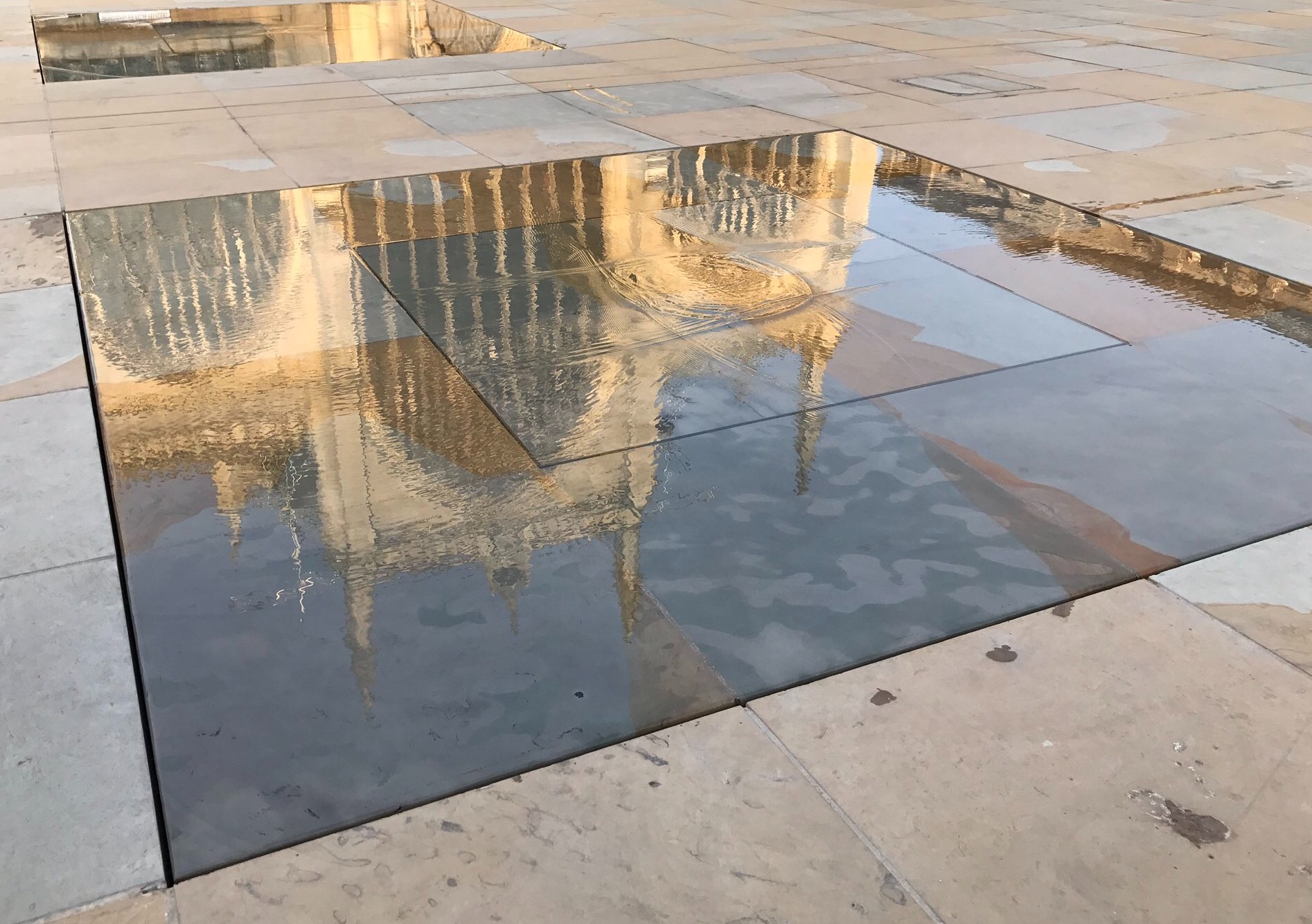 The stunning new water features have created a new way to admire the grandeur of Hull Minster.