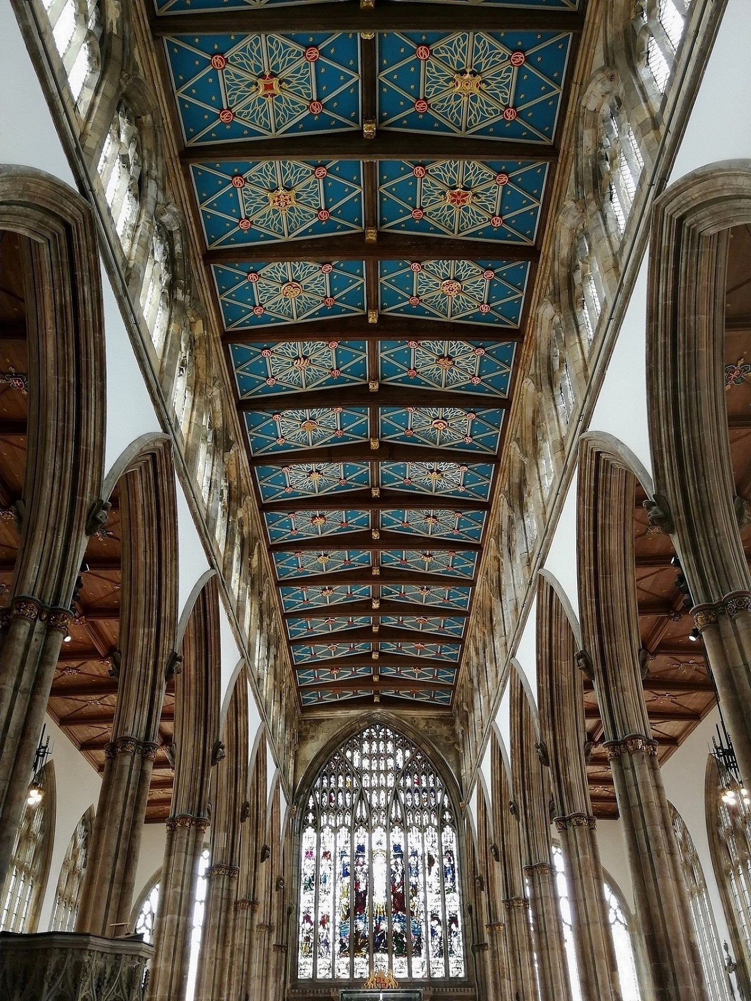 The beautiful Nave roof at Hull Minster, part of the ancient church's rich heritage.