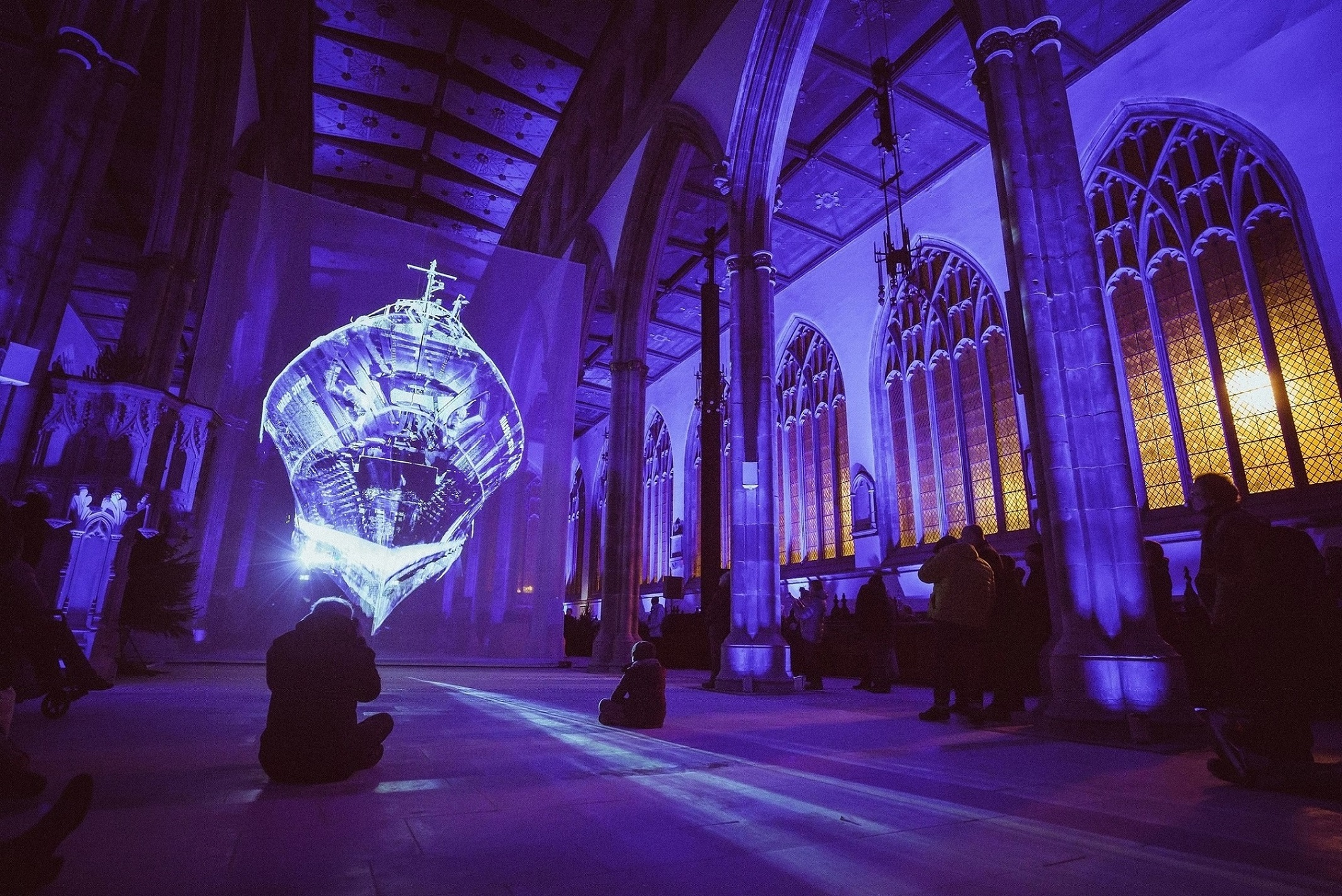 Heinrich and Palmer's   Ship of the Gods was staged at Hull Minster in partnership with Absolutely Cultured as part of the  Urban Legends: Northern Lights event held at key locations in Hull city centre. Picture: Chris Pepper/Absolutely Cultured.