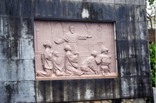 Memorial of the discovery of the Hidden Christians, outside Oura Church, Nagasaki.