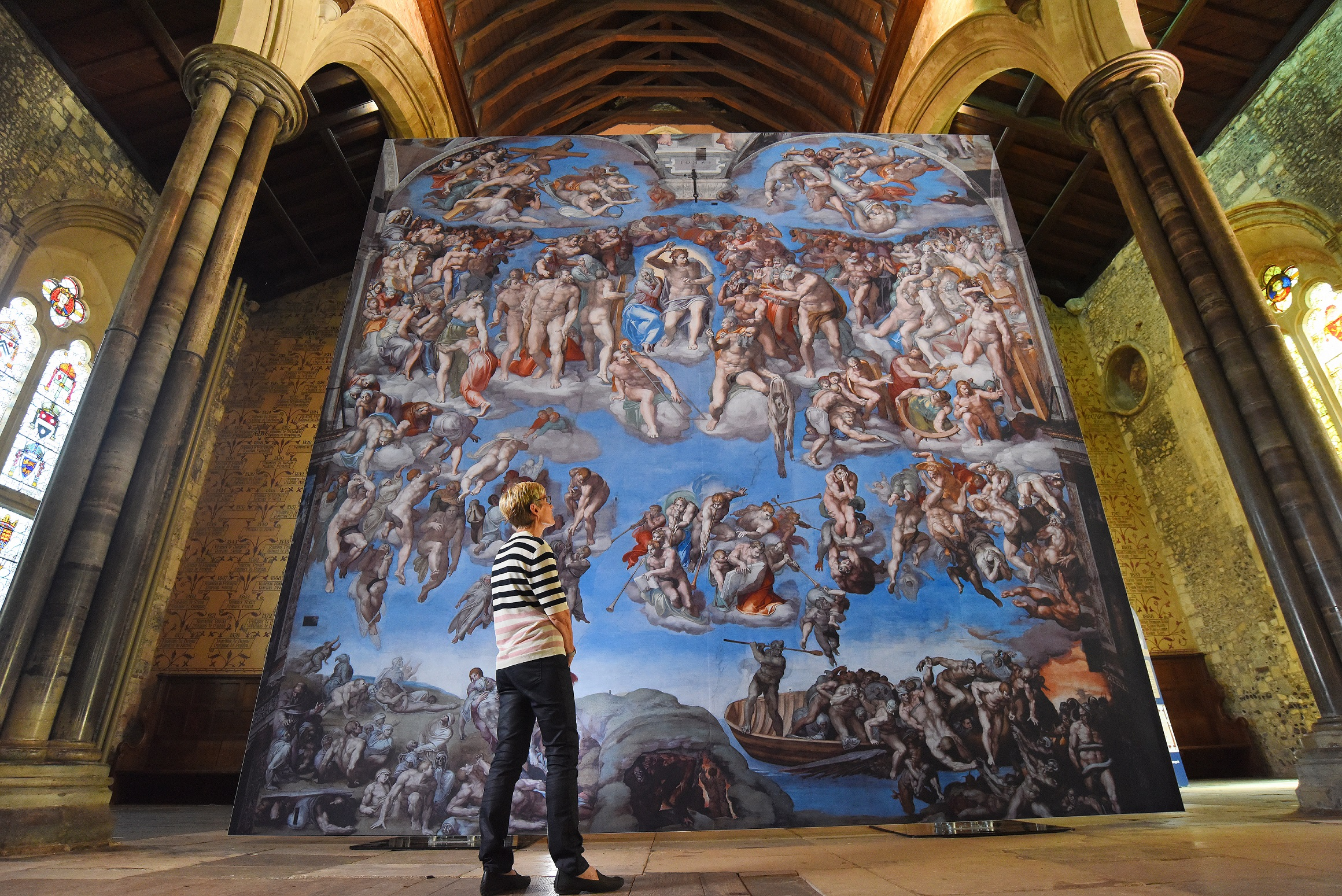 "A magnificent six metres square reproduction of ""The Last Judgement"" is one of the highlights of a world-class exhibition of Michelangelo's work in the Sistine Chapel which is coming to Hull Minster this autumn. Picture: Solent News & Photo Agency."
