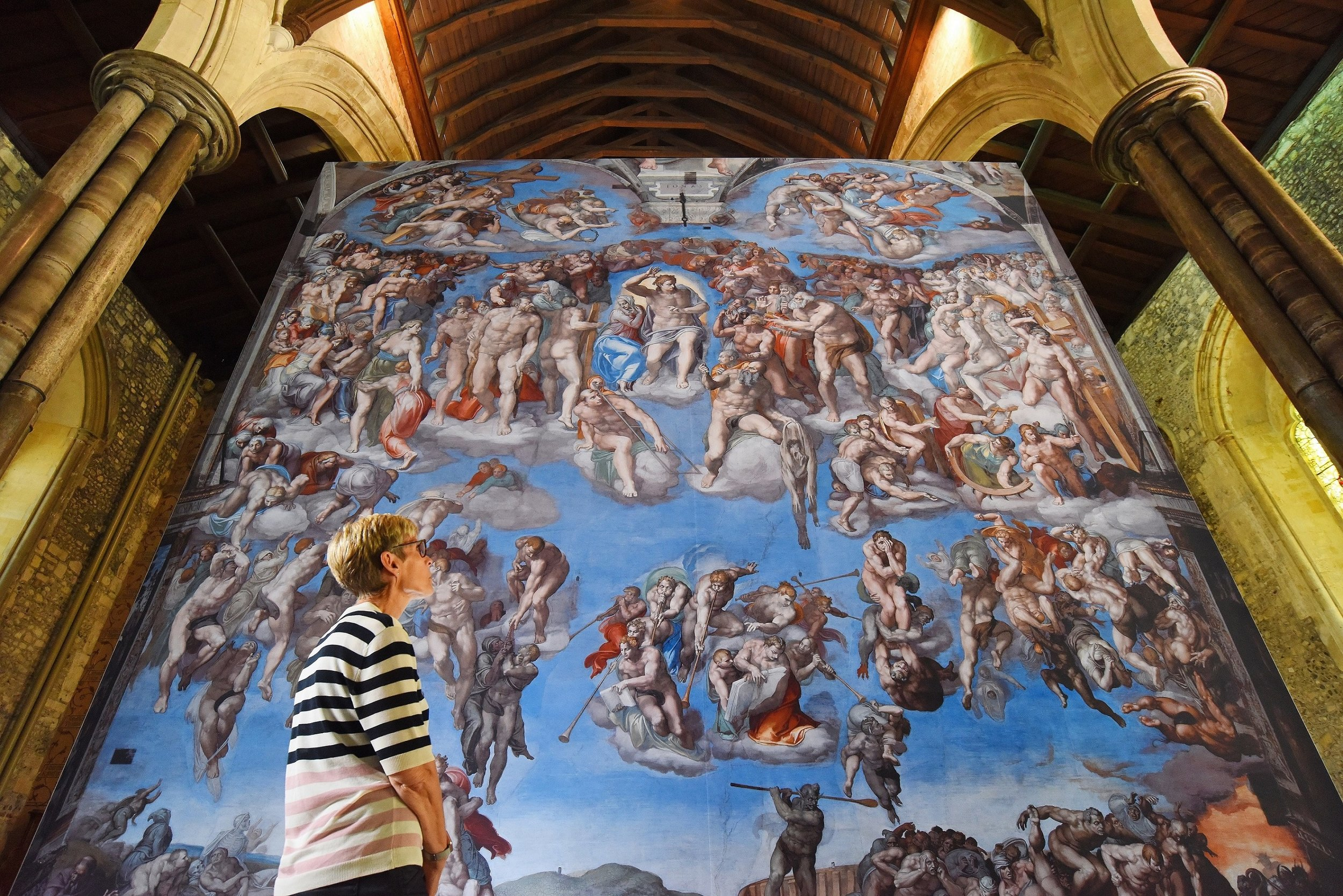 "A magnificent six metres square reproduction of ""The Last Judgement"" - one of the highlights of the ""Michelangelo - A Different View"" exhibition coming to Hull Minster this autumn. Picture: Solent News & Photo Agency."