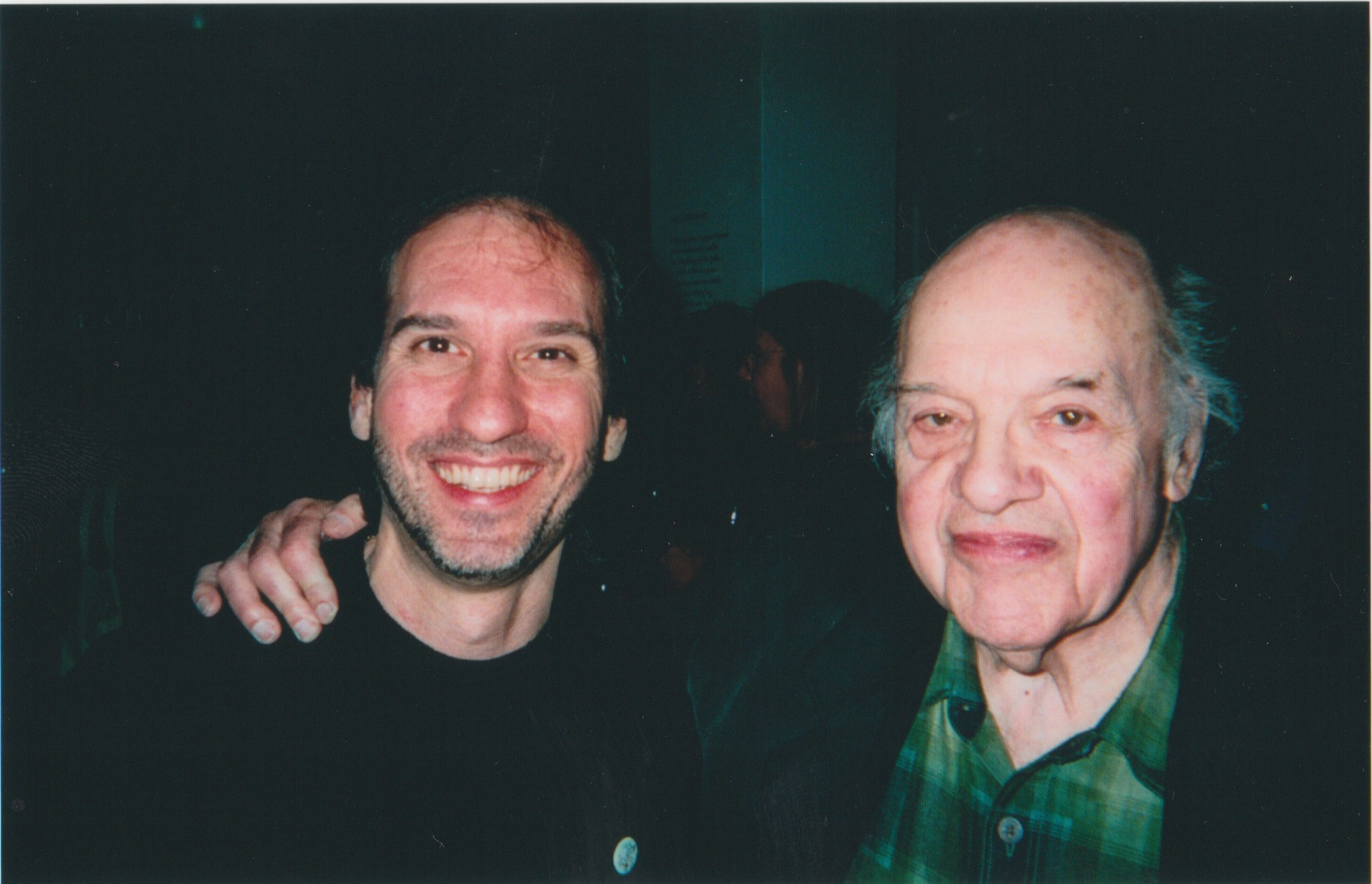 With Gerald Stern.