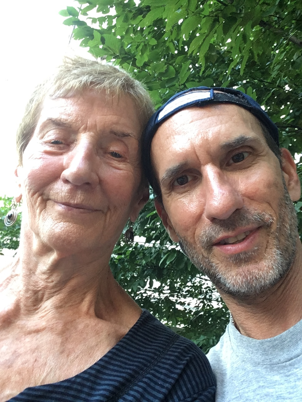 With Mary Crow, my first poetry teacher and former Colorado Poet Laureate, author of Addicted to the Horizon; I Have Tasted the Apple; Borders; and many works of translation, including Woman Who Has Sprouted Wings: Poems by Contemporary Latin American Women Poets. August 4, 2018.
