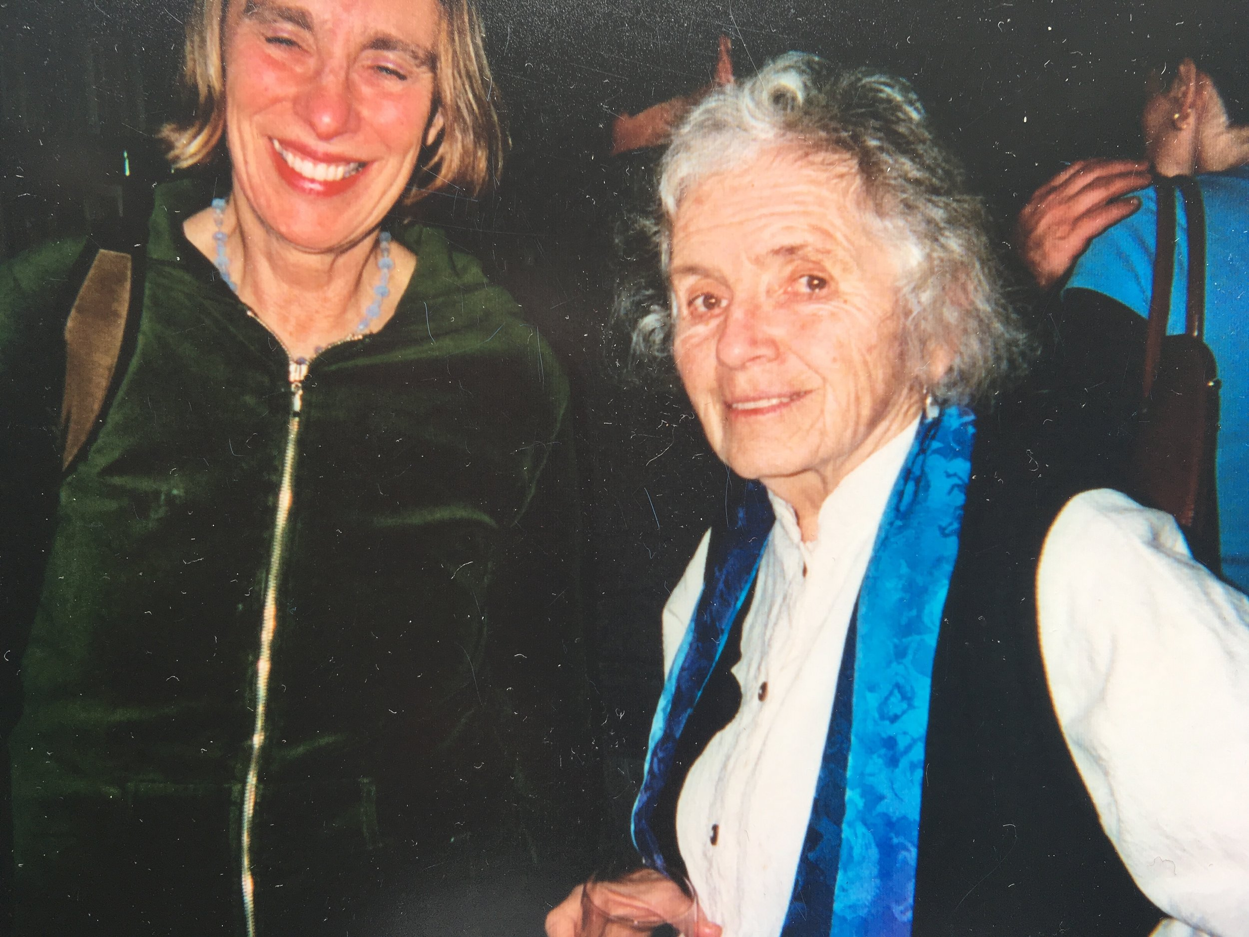 Joan Larkin and Grace Paley, book party for MY BODY:  NEW AND SELECTED POEMS