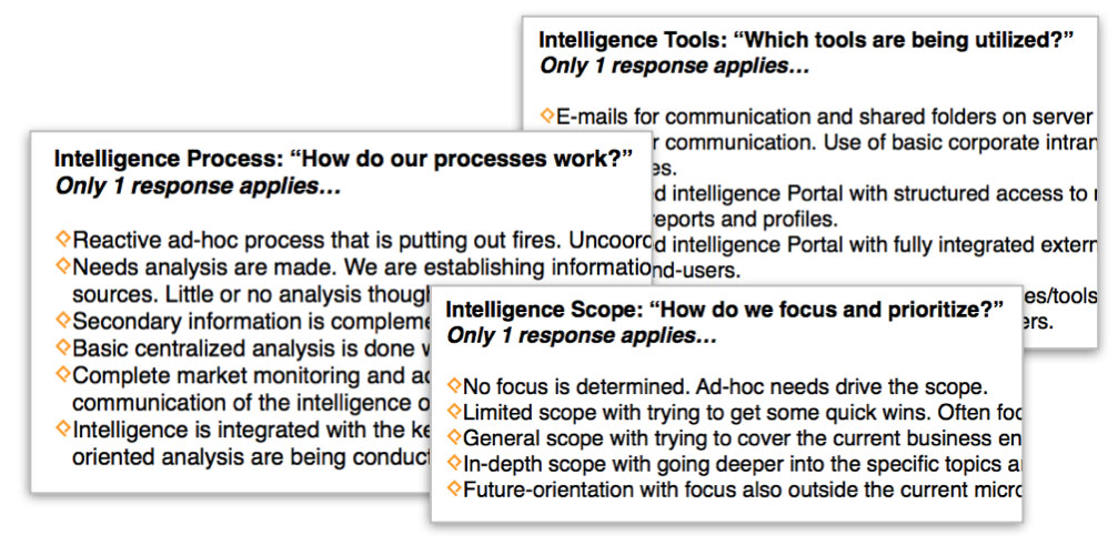 Market & Competitive Intelligence Function Self-Assessment