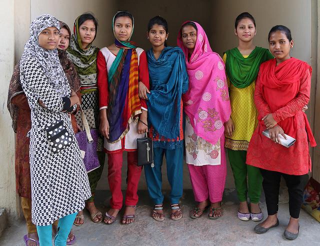 Schoolgirls with life skills in Bangladesh. Photo Credit - Ricci CoughlanDFID