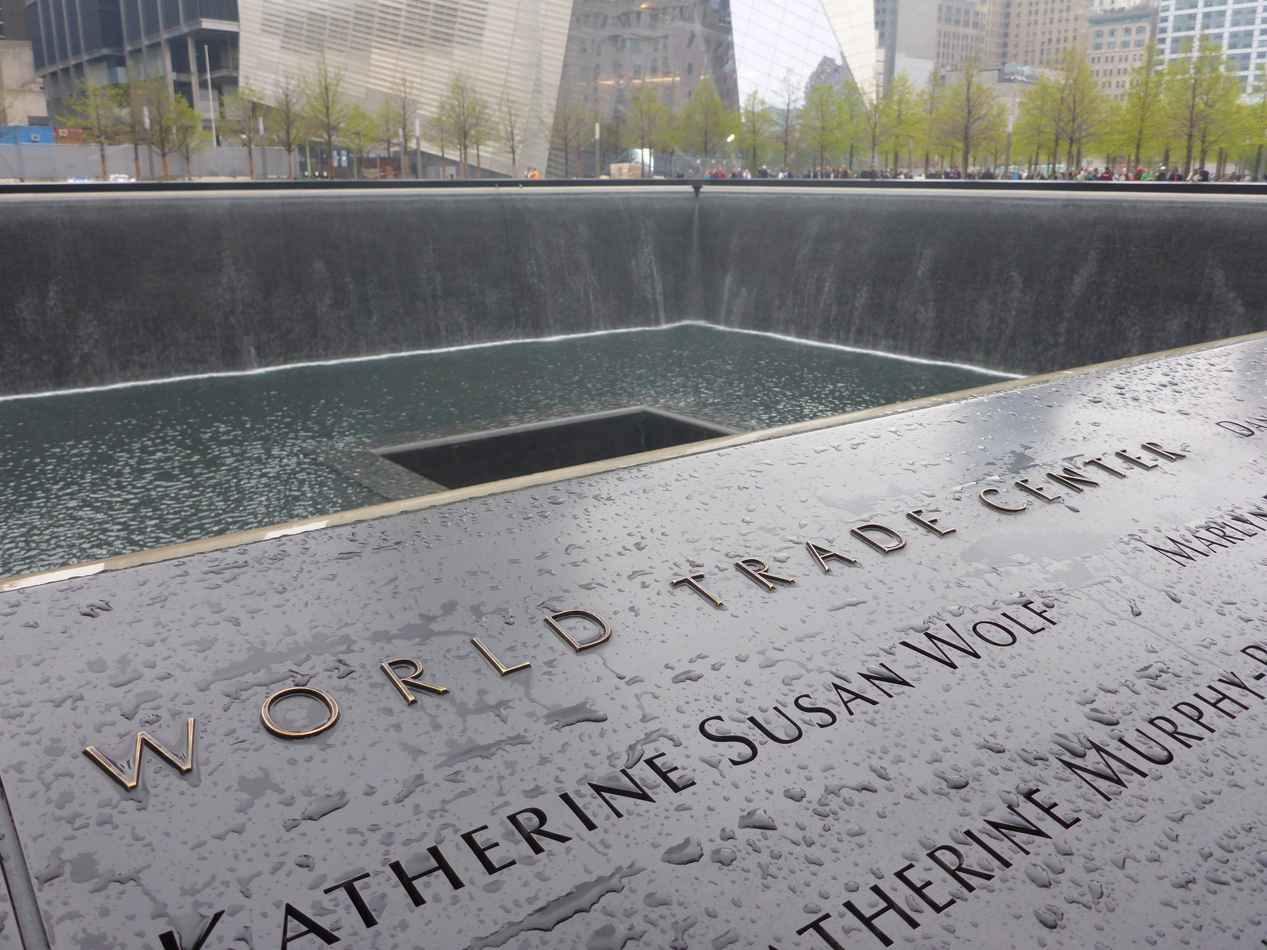 Another view of the World Trade Center Memorial.