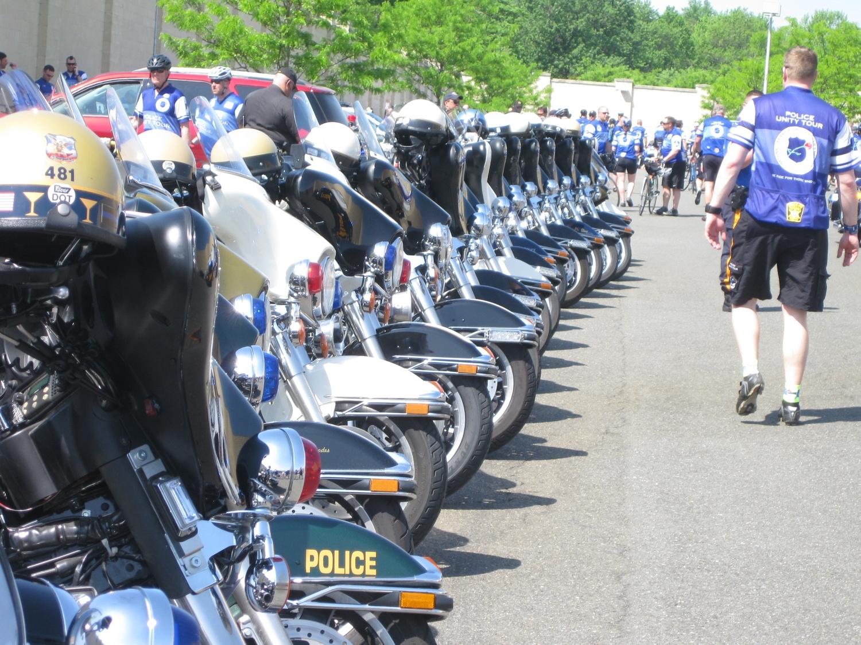 A few of the motors parked on break.