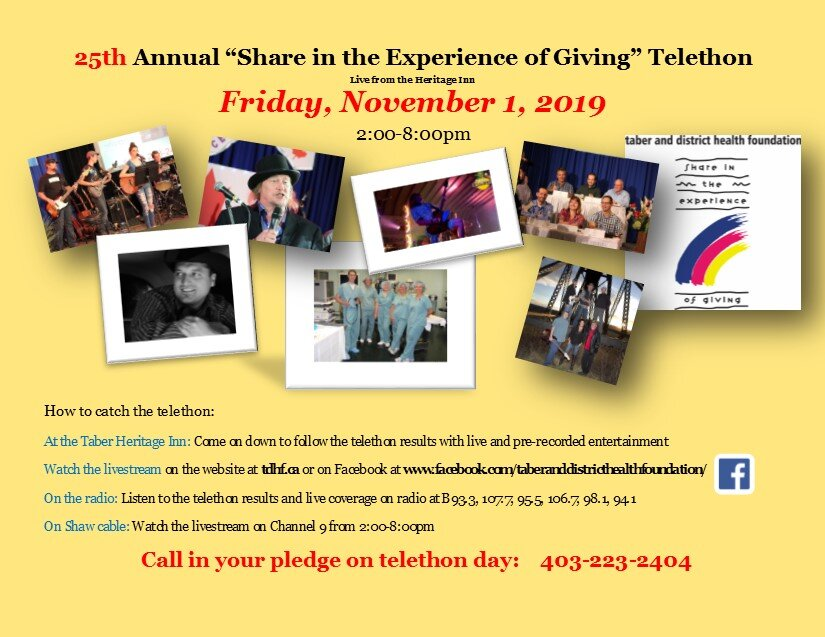 The 25th annual Telethon is coming up quickly!    We have some new features this year with Trevor Panczak coming to emcee, the morning radio show announcers will be there, Trevor Moore-magic comedian and our own Bill Lawson! Tune in, drive in or watch online. We hope you enjoy the show!