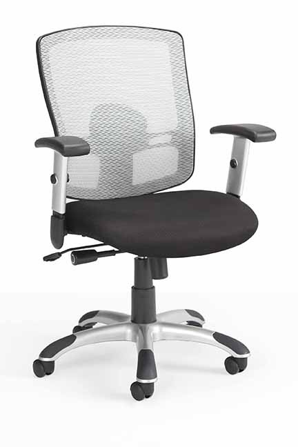 The Eko series mesh back contains an adjustable lumbar support that follows the natural curve of the lower back.