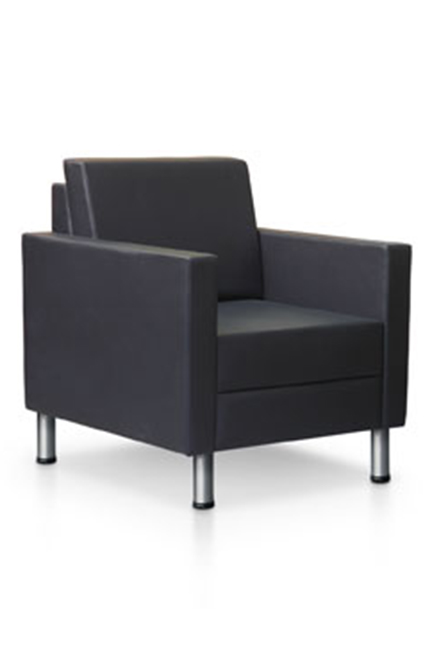 Contemporary soft seating with straight lines and a hint of edge for interest. Compliments numerous environments including offices, reception areas, boardrooms, meeting rooms, hospitality and more.