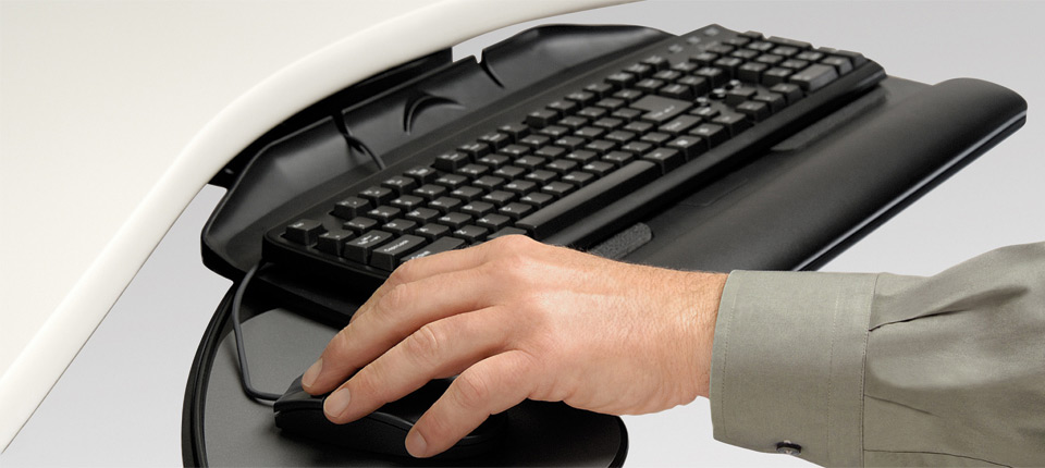 The patented keyboard platform of the Banana-Board® blends functionality with contemporary, high-tech design.