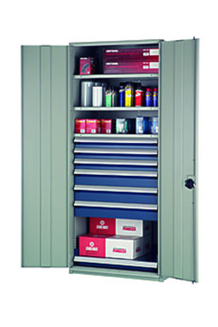 Rousseau Spider Shelving can be fitted with doors to meet your storage needs.