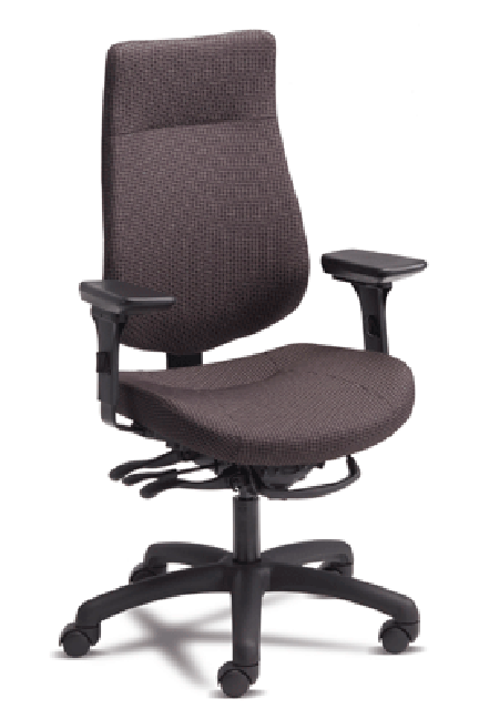 With form fitting curves for extra lumbar support, Quatra sets the ergonomic standard for office, occasional and laboratory chairs. Any Quatra chair can be personalized for true universal comfort with a range of interchangeable components.
