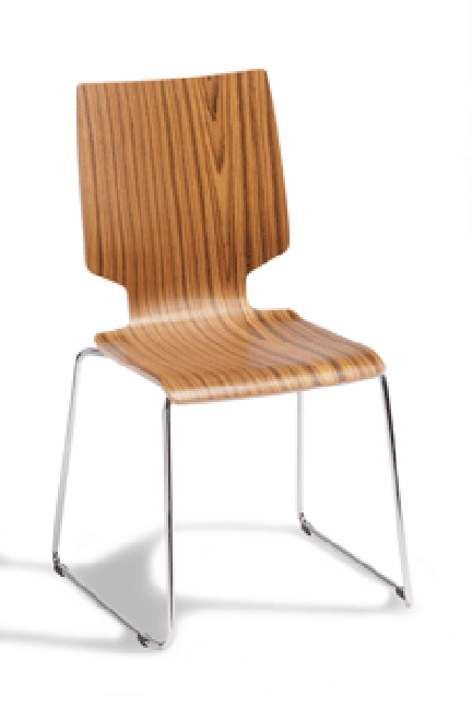 Perfect for a wide range of uses, Xylo chairs and stools are practical, sturdy and contemporary. Available with three different backrest shapes, Xylo is made of moulded plywood on a chrome-plated tubular metal base.