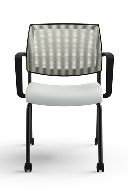 The Focus Side features a mesh back, the collection's signature integrated lumbar support, a waterfall seat and a molded foam cushion for maximum comfort.