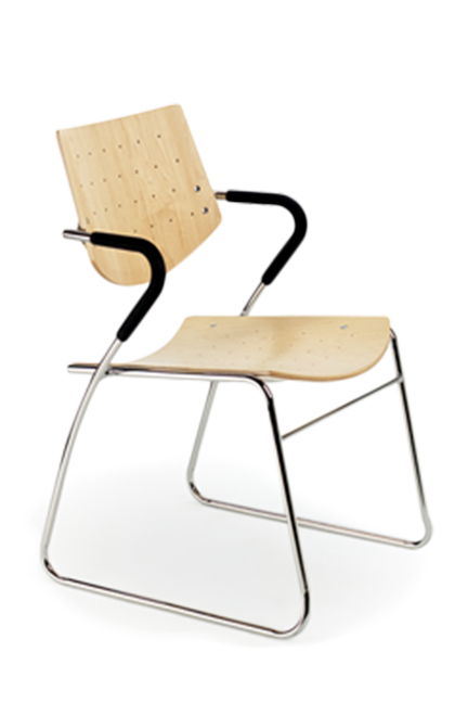 The refined lines and strength of Circus chairs strike a perfect balance between form and function, making them ideal for any space from the office, cafeteria, waiting room, conference room, or even for an auditorium or counter seating at a bistro.
