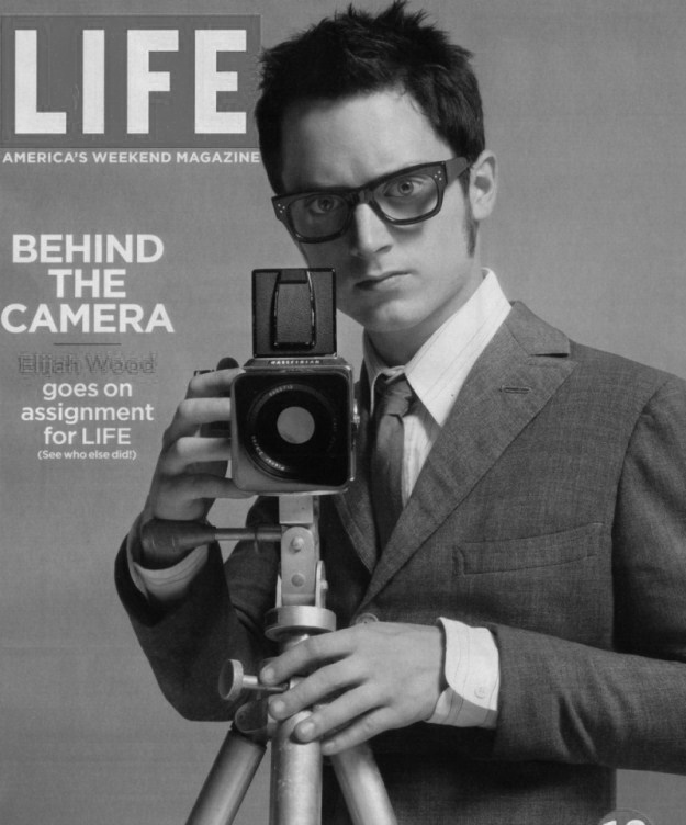 Elijah Wood with Hasselblad camera