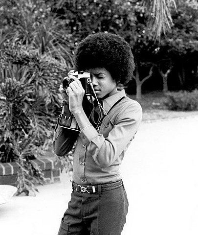 Michael Jackson with an SLR