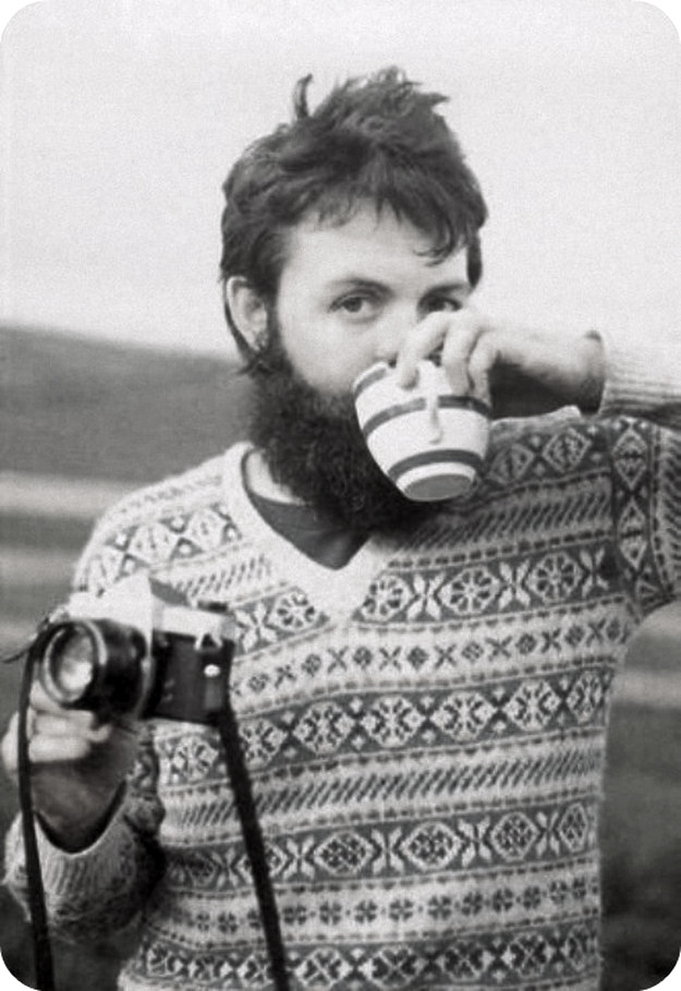 Paul McCartney with Pentax Spotmatic camera