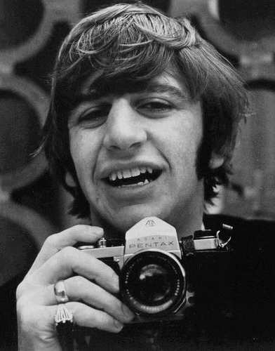 Ringo with a Pentax SLR